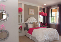 Girly pink room