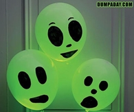Glowing ghost balloons