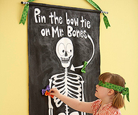 Pin the bow tie on the skeleton game