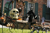Spider skull lawn decoration
