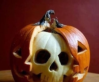 Jack o lantern skull