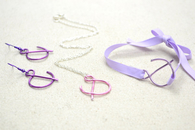 "Wire Wrap ""And"" Sign Jewelry Set"