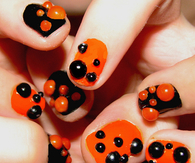 Large studded halloween nails