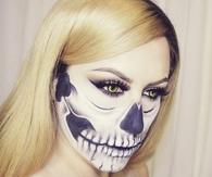 Skull face makeup