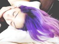 Purple flowing hair