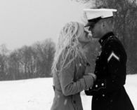 Military snow couple