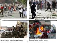 Canada lost a hockey game