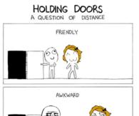 Holding doors