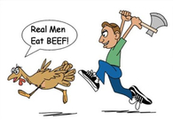Real men eat beef