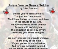 unless youve been a soldier