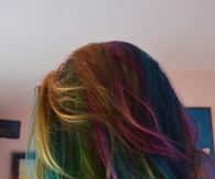 Rainbow dark hair