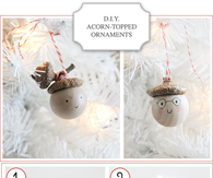 DIY Acorn Christmas Ornaments