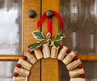 DIY Christmas Cork Wreath