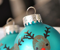 DIY Christmas Reindeer Ornaments