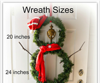 DIY Wreath Snowman