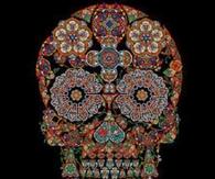 Vintage Floral Skull