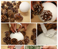 DIY Pine Cone Pom Poms