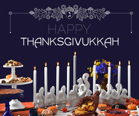 happy thanksgiving and Hanukkah