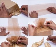 diy gold christmas gifts - Diy Christmas Bows