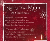 Missing you Mom at Christmas