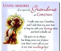 missing grandma at christmas time - Merry Christmas In Heaven