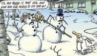 snowmen held up