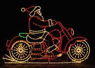Santa on Motorcycle Lights