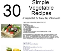 30 Simple Vegetable Recipes
