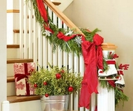 Festive Stair decoration