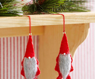Felt gnome ornaments