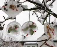 Frozen tree ornaments