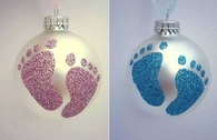 Baby foot ornament