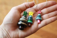 Christmas ornaments with buttons