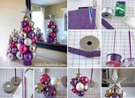 Table top knitting needle ornament tree