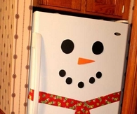 Adorable snowman fridge
