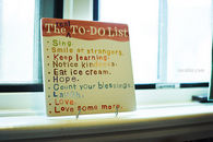 The real to do list