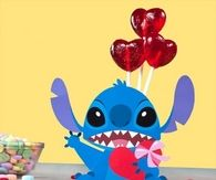 Stitch valentine candy box