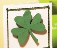 A simple shamrock card