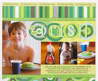 Irish scrapbook layout