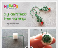 DIY Christmas Tree Earrings