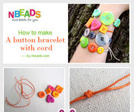 How to Make A Button Bracelet with Cord
