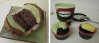 Chocolate and green tea cupcakes