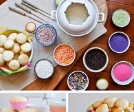 Cupcakes fondue