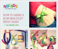How to Make A Bow Bracelet with Chain
