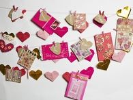 Valentines day hanging card decoration