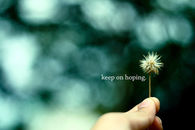 Keep on hoping