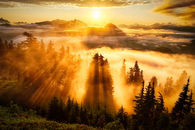 Sunset Evergreen Mountain Washington State