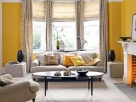 Saturated yellow living room