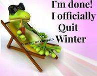 I quit winter