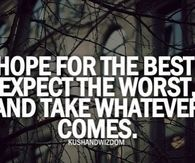 Hope for the best, expect the worst